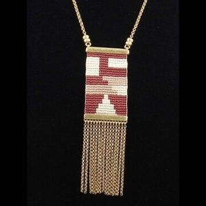 Lucky Brand Tri Tone Seed Beaded Chain necklace